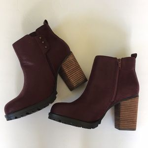 Call It Spring Bordeaux Wine Ankle Boots